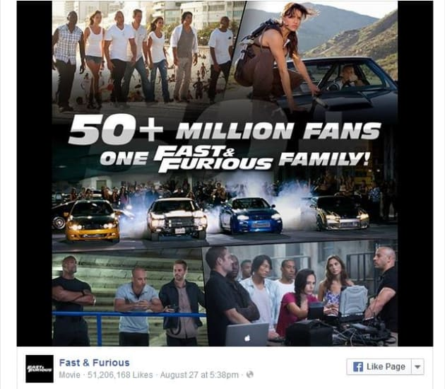 Fast and Furious Facebook Photo