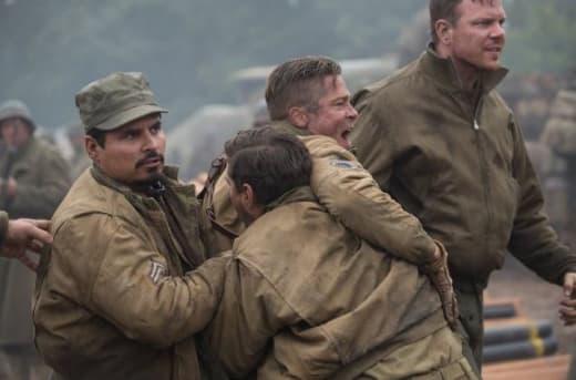 Fury Michael Pena Brad Pitt Shia LaBeouf