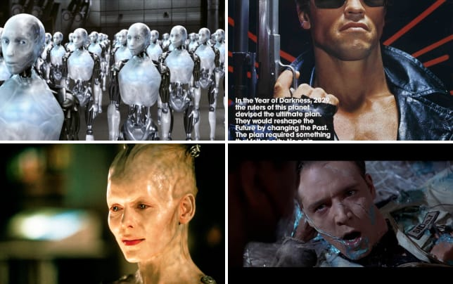 15 most menacing movie robots robot army of i robot