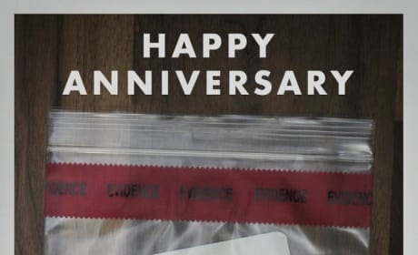 Gone Girl Happy Anniversary Poster