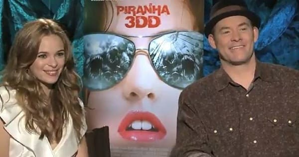 Danielle Panabaker and David Koechner Talk Piranha 3DD