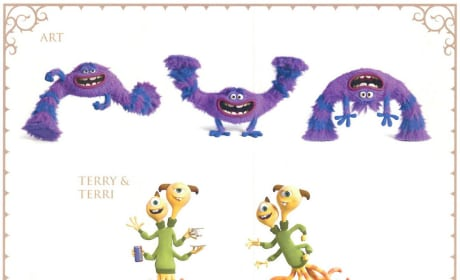 Monsters University Art, Terry and Terri