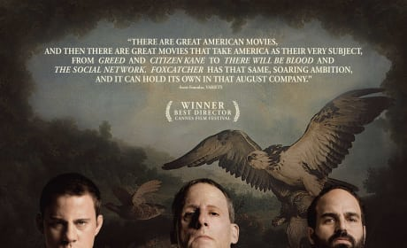 Foxcatcher Teaser Poster: Steve Carell Gets Serious