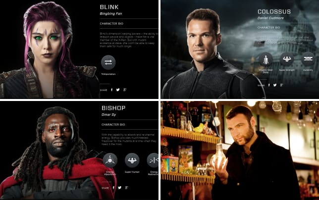 X men days of future past blink bio banner