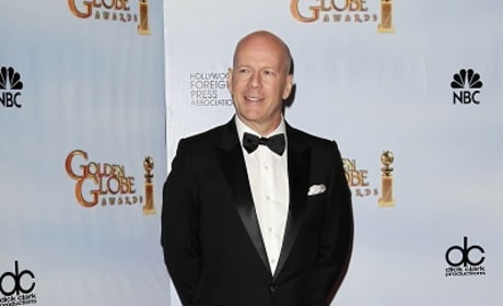 Bruce Willis at the Golden Globes