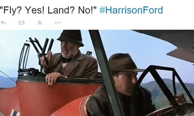 Harrison Ford Plane Crash Indiana Jones
