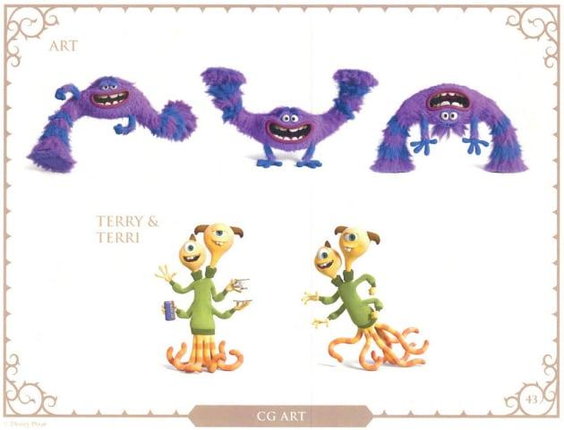 Monsters University Art, Terry and Terri