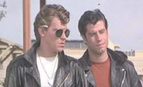 John Travolta and Jeff Conaway in Grease