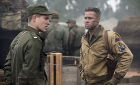 Logan Lerman Brad Pitt Fury