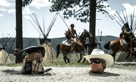 Armie Hammer Johnny Depp in The Lone Ranger