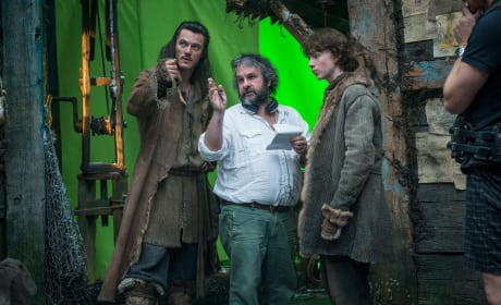 Peter Jackson Luke Evans The Hobbit The Desolation of Smaug