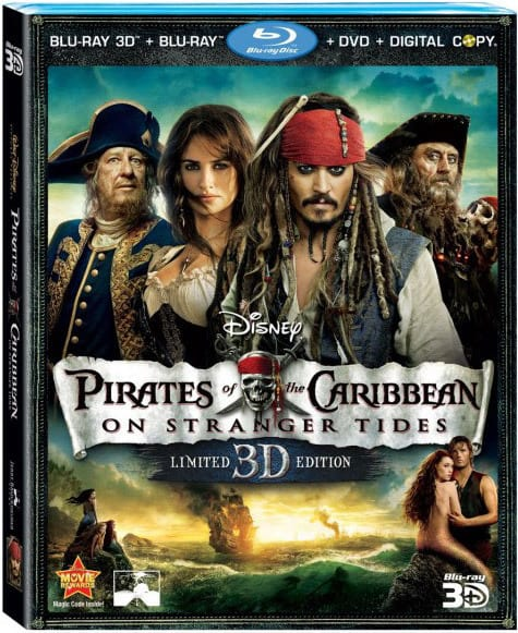 Pirates of the Caribbean: On Stranger Tides DVD Cover