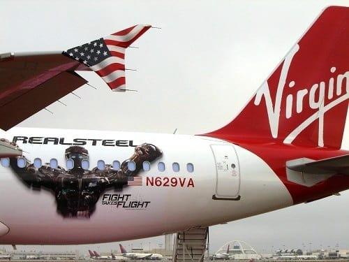 Real Steel Virgin America Plane