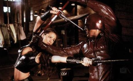 Elektra and Daredevil fight