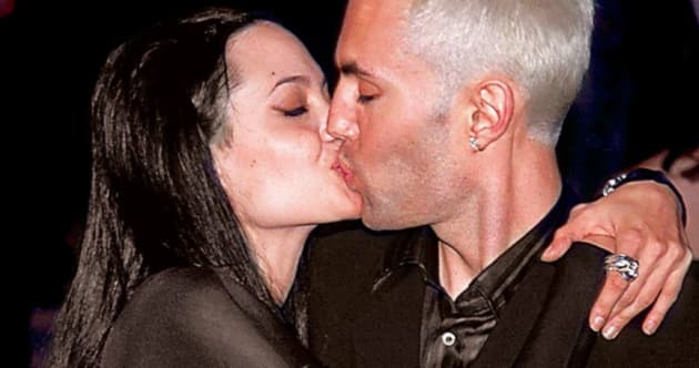 Angelina Jolie Kisses Her Brother