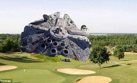 Harrison Ford Millennium Falcon Crash