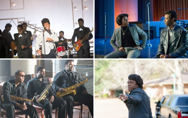 Chadwick boseman stars as james brown get on up