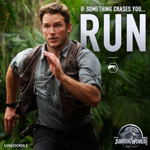 Chris Pratt Is Running!
