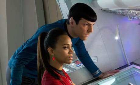 Star Trek Into Darkness Still: Spock and Uhura Focus