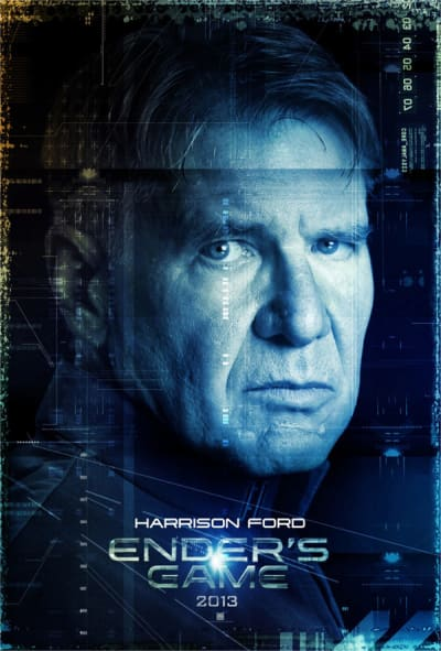 Ender's Game Character Poster: Harrison Ford