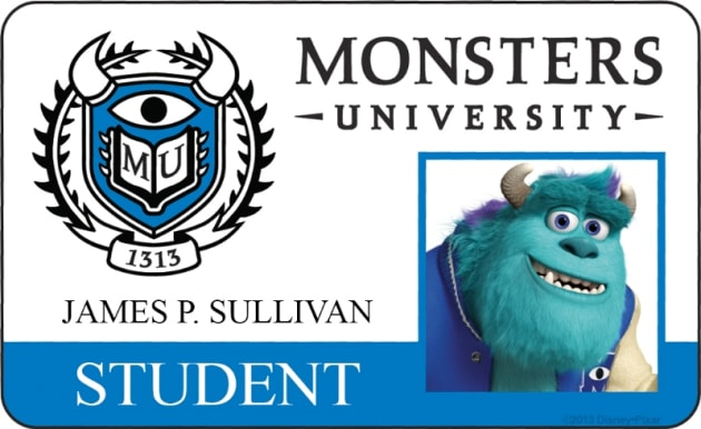 James P. Sullivan Monsters University Student ID
