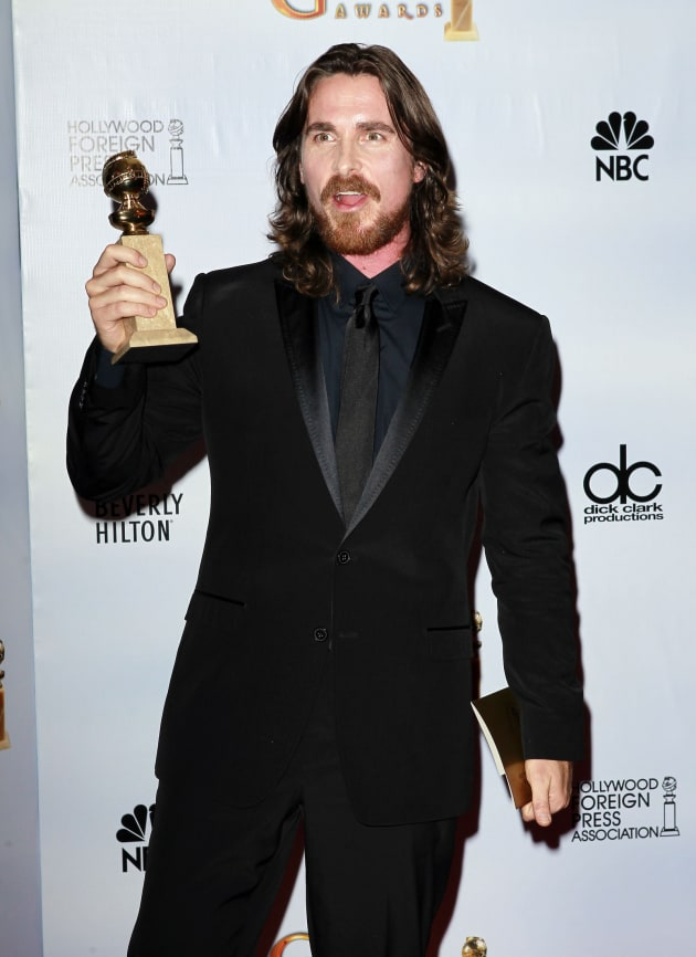 Golden Globe Winner Christian Bale
