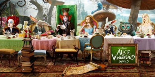 Alice in Wonderland Last Supper Tea Party Poster