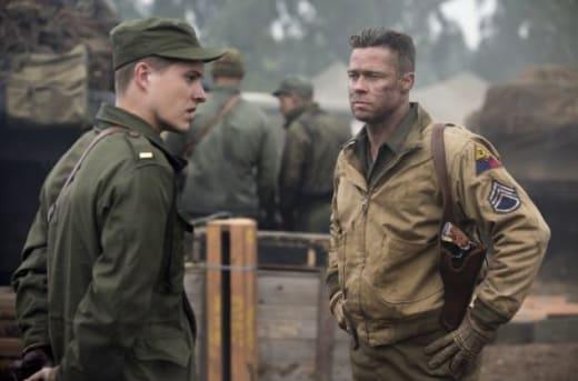 Logan Lerman Brad Pitt Fury
