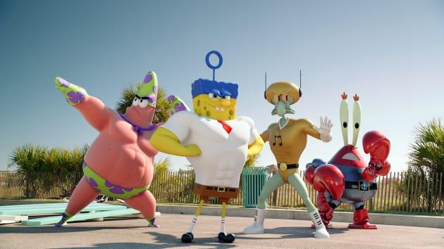 First SpongeBob Sponge Out of Water Still!