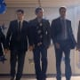 Jason Biggs, Chris Klein and Seann William Scott in American Reunion