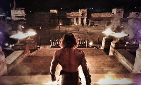 Dwayne Johnson Hercules Set Photo