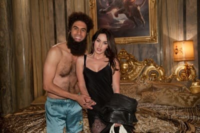 The Dictator Still: Cohen with Megan Fox
