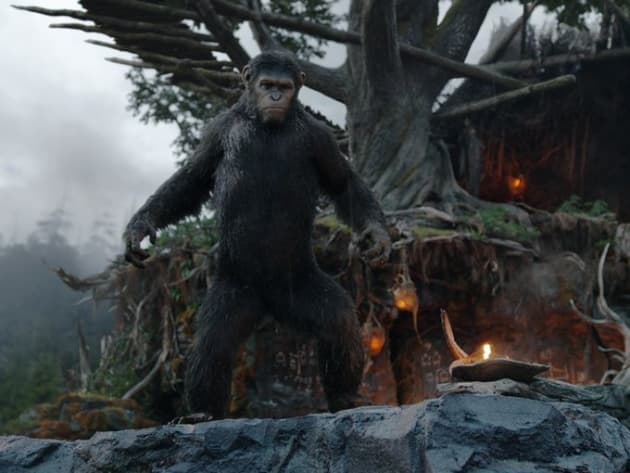 Dawn of the Planet of the Apes Caesar in Action
