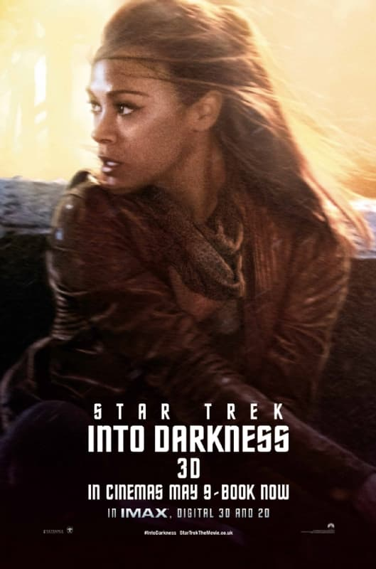 Star Trek Into Darkness Zoe Saldana Poster