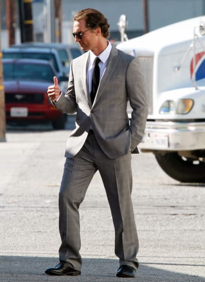 Matthew McConaughey Shoots Commercial