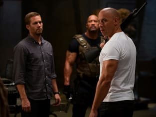 Paul Walker, Dwayne Johnson and Vin Diesel Fast Six