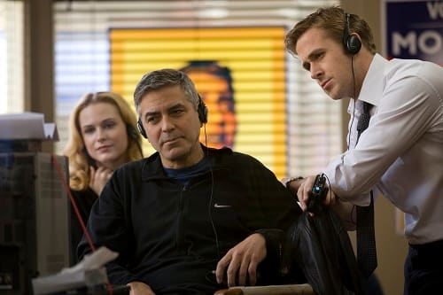 Ryan Gosling and George Cloony on The Ides of March Set