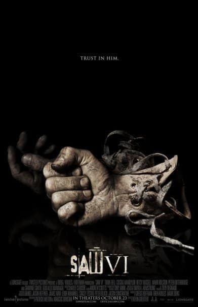 Saw VI gloved hand poster