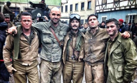 Fury Photos: Brad Pitt Ready for Battle