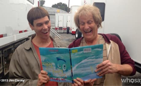Dumb and Dumber To Set Photo: Jim Carrey and Jeff Daniels on Being Back