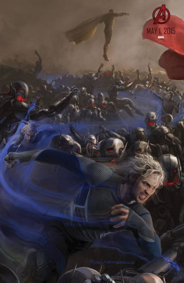 avengers age of ultron concept art poster quicksilver
