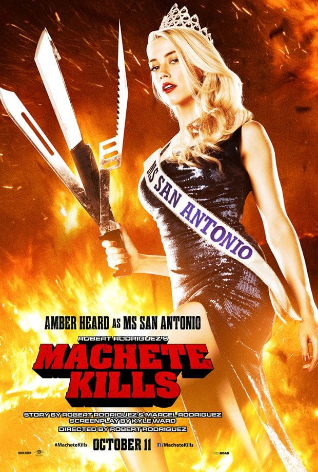 Amber Heard Machete Kills Character Poster