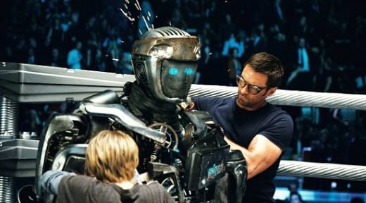 Hugh Jackman, Dakota Goyo in Real Steel