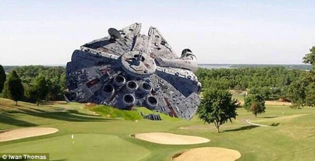 Harrison Ford Millennium Falcon Crash