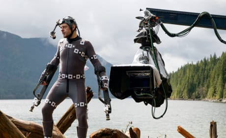 Dawn of the Planet of the Apes: Andy Serkis in His Ape Suit!