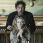 Tim Burton and Michelle Pfeiffer in Dark Shadows