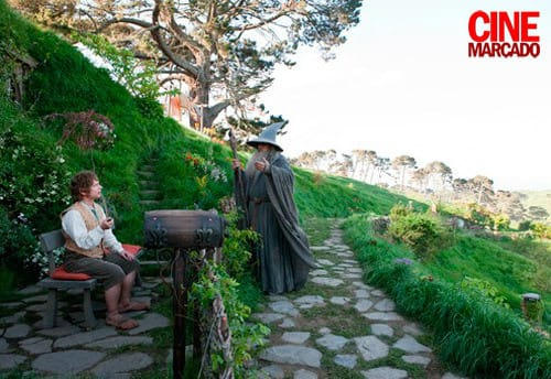 Bilbo and Gandalf in The Hobbit