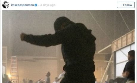 Sebastian Stan Captain America Civil War Set Photo