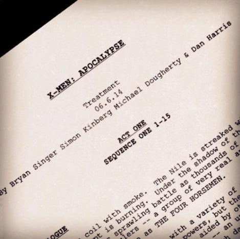 X-Men: Apocalypse Script Tease