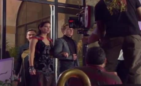 Catching Fire Behind the Scenes: Jennifer Lawrence Works It